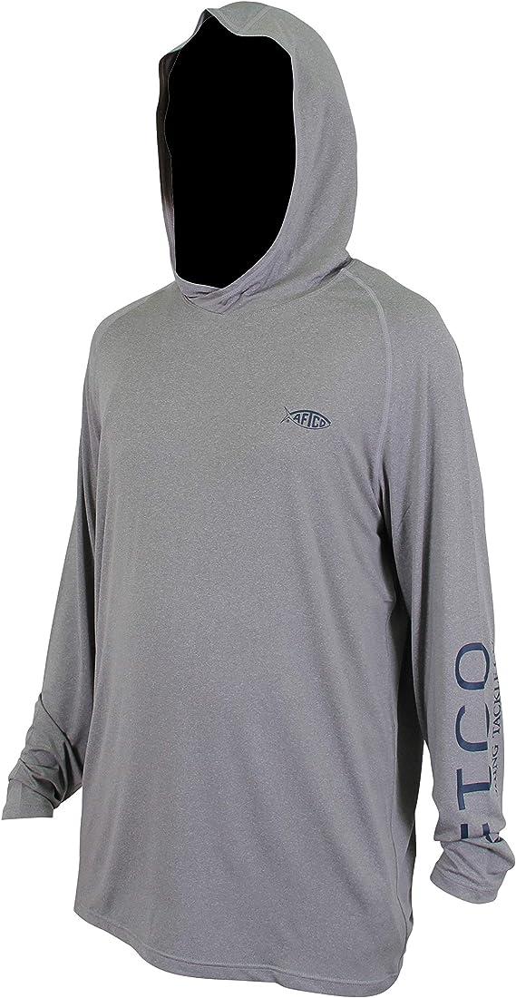 Medium AFTCO Samurai Hooded Shirt Mint