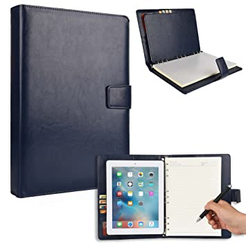 Cooper FOLDERTAB Padfolio Case Compatible with iPad 4, iPad 3, iPad 2 | Business Executive Organizer with Notepad | Vegan Leather, Left & Right Handed ...