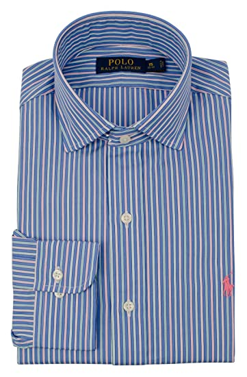 b6c3250cf11cd3 Ralph Lauren Men's Long Sleeve Striped Poplin Shirt at Amazon Men's  Clothing store: