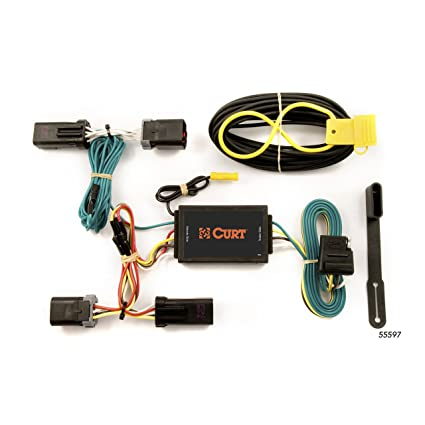 amazon com: curt 55597 vehicle-side custom 4-pin trailer wiring harness for  select dodge durango, chrysler aspen: automotive