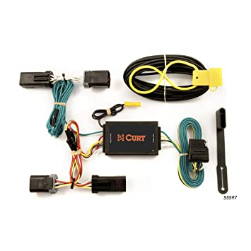 CURT 55597 Vehicle-Side Custom 4-Pin Trailer Wiring Harness for Select on