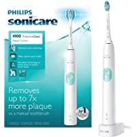 Philips Sonicare ProtectiveClean 4100 Plaque Control Rechargeable electric toothbrush with pressure sensor (White Mint)
