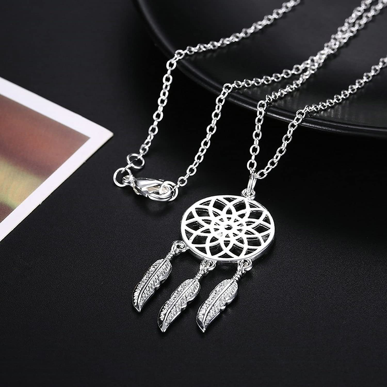 Gnzoe Jewelry Women Stainless Steel Necklace Hollow Shape Pendant White Women Chain 45CM