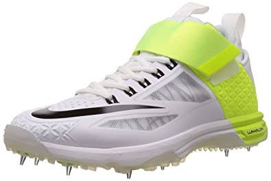 size 40 d28f5 9e039 Nike Men s Lunar Accelerate 2 White,Black,Volt Cricket Shoes -7 UK