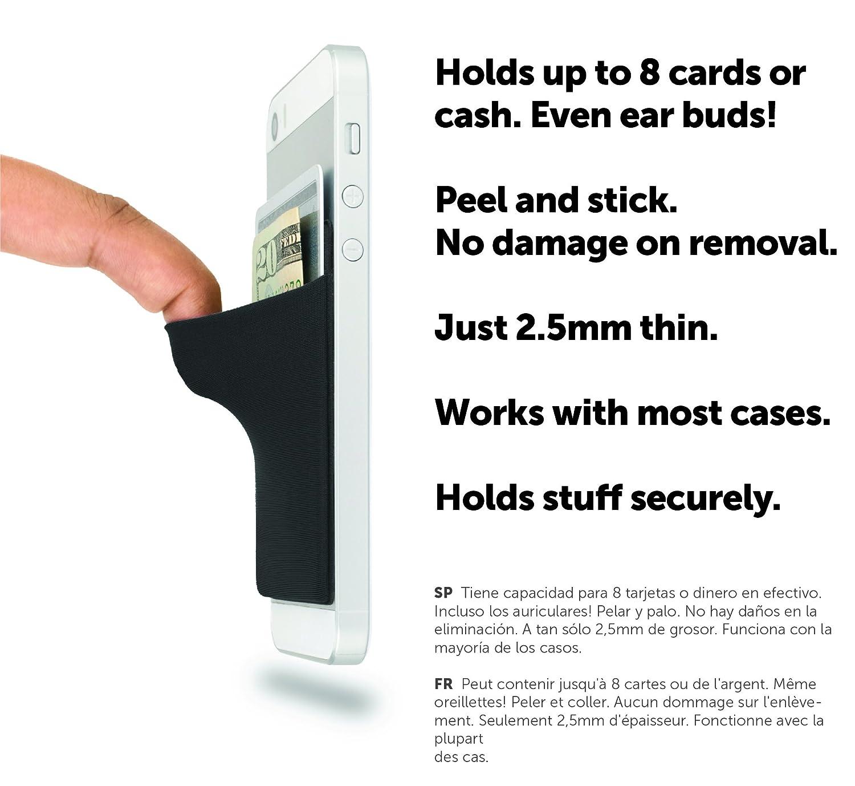 Amazon.com: CardNinja Ultra-slim Self Adhesive Credit Card Wallet ...