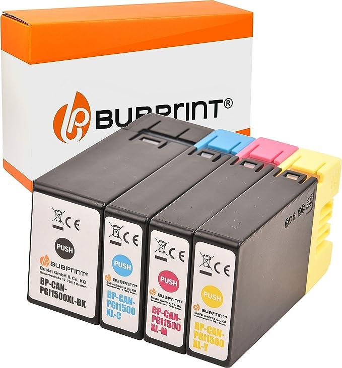 Bubprint 4 Druckerpatronen Kompatibel Für Canon Pgi 1500xl Für Maxify Mb2000 Mb2050 Mb2100 Mb2150 Mb2155 Mb2300 Mb2350 Mb2700 Mb2750 Mb2755 Multipack Bk C M Y Bürobedarf Schreibwaren