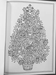 Amazon.com: Creative Haven Christmas Trees Coloring Book