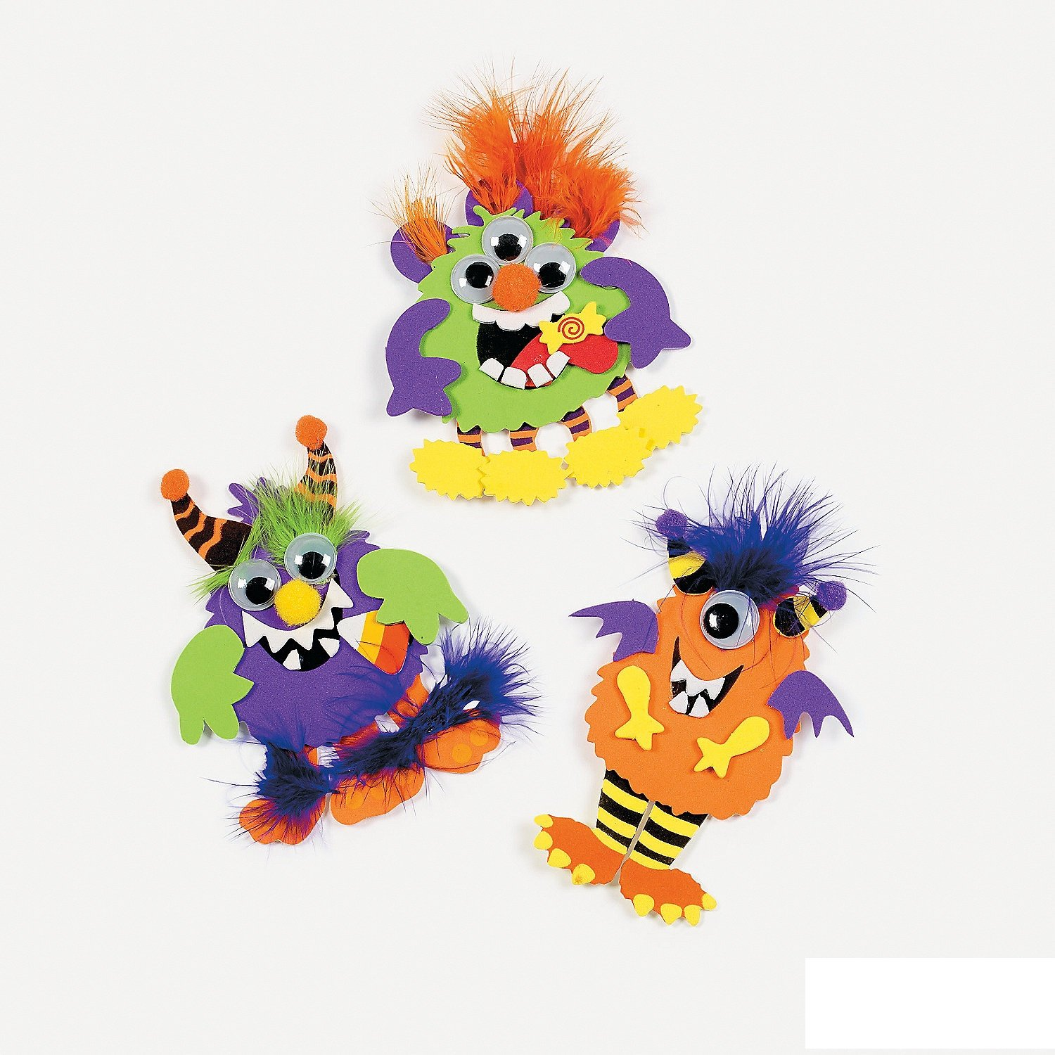 Monster Magnet Craft Kit - Crafts for Kids Magnet Crafts-Makes 12