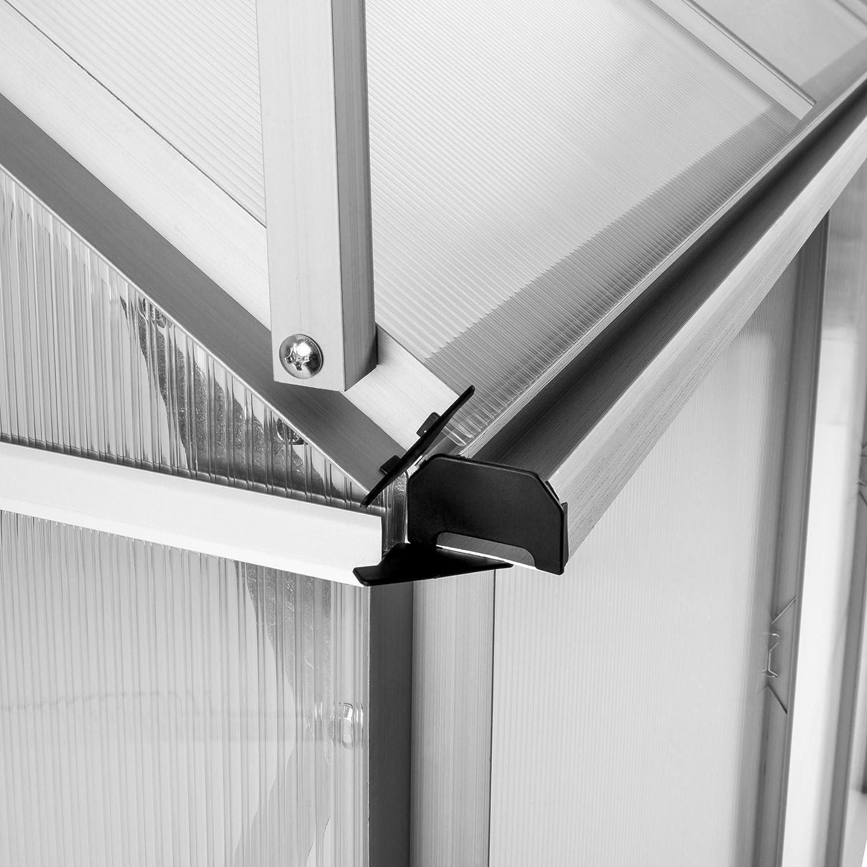 TecTake Invernadero de jardín policarbonato Transparente Aluminio ...