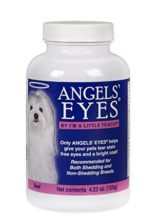 Angels Eyes Tear-Stain Eliminator for Dogs and Cats, Beef Flavor, 120 Grams Bottle