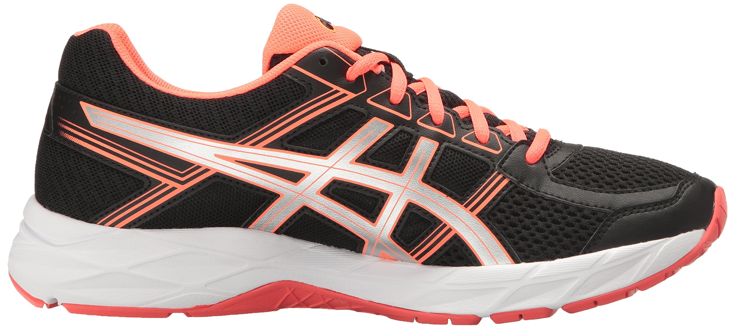 ASICS Women's Gel-Contend 4 Running Shoe, Black/Silver/Flash Coral, 5 M US by ASICS (Image #7)