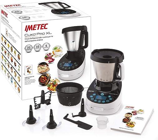 Imetec Cukò Pro XL CM3 2000 Robot de cocina multifunción con cocción, Cooking Machine con 20 programas automáticos, 10 funciones, 6 raciones, 5 accesorios, receta, capacidad 3,6 litros, 1000 W: Amazon.es: Hogar
