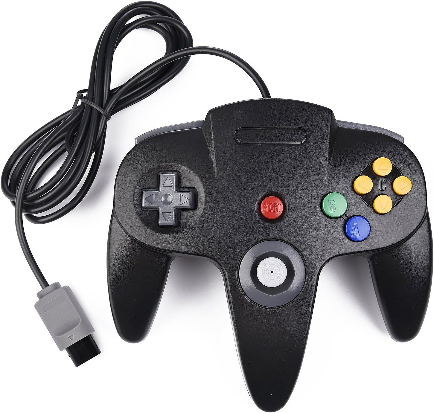 Classic N64 Controller, kiwitata Retro Wired Controller Gamepad ...