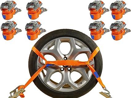Industrie Planet 8 X Spanngurte Auto Transport Pkw 2000 Dan 2 9m 35 Mm Auto Transport Zurrgurte Reifengurte Auto