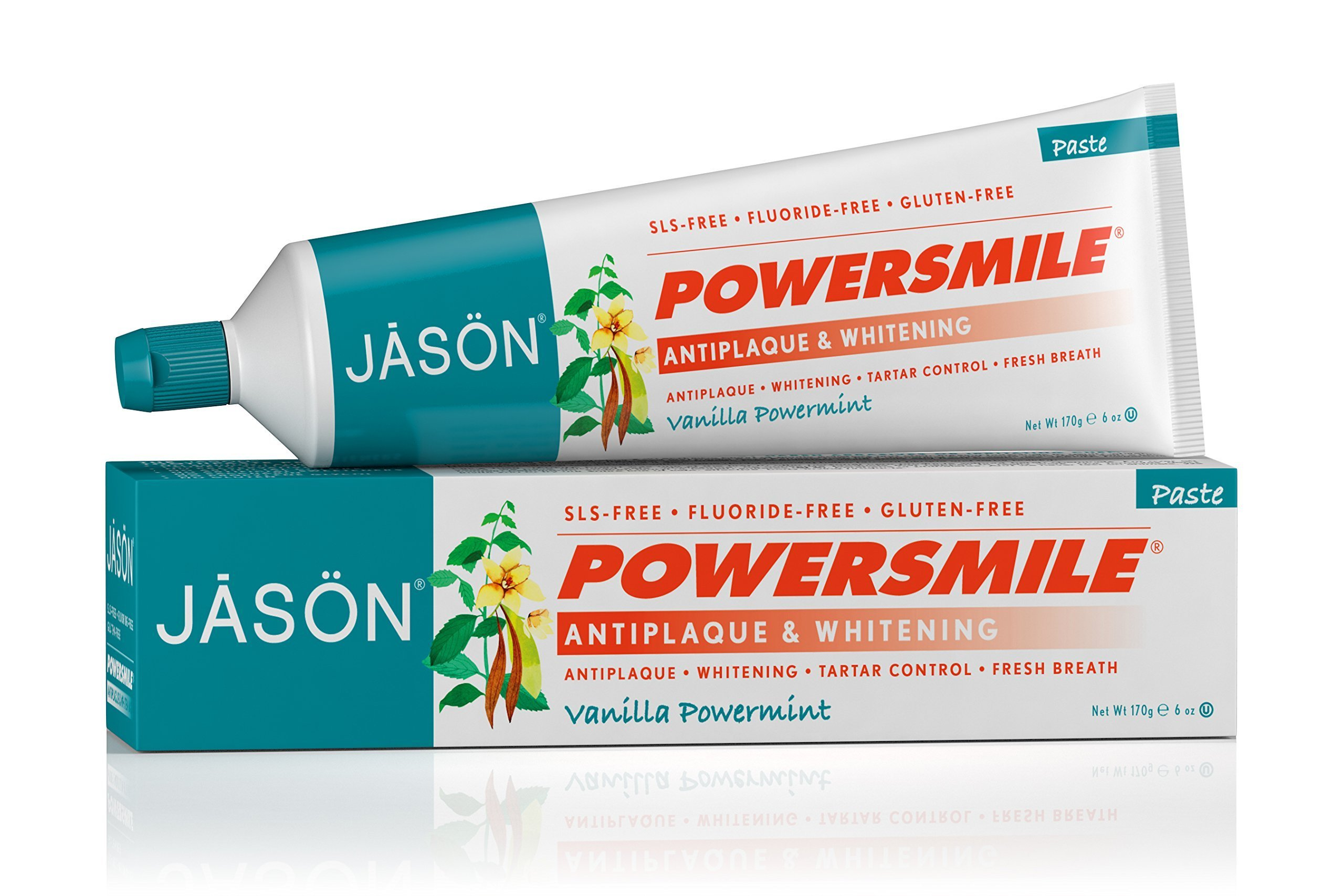 Jason Natural Products Power Smile Toothpaste Vanilla Mint, 6 Ounce