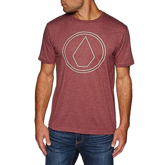 Volcom Camiseta Pin Stone HTH - Hombre T-Shirt - Crimson: Amazon ...