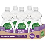 Seventh Generation Lavender Flower & Mint - Lavavajillas a Mano, 0% fragancias sintéticas y colorantes, 5 Recipientes de…