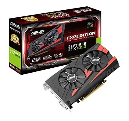 ASUS EX-GTX1050-2G - Tarjeta gráfica (NVIDIA GeForce GTX 1050, 2 GB GDDR5, 7680 x 4320 Pixeles, 1354 MHz, 1455 MHz, 2 GB) Color Negro