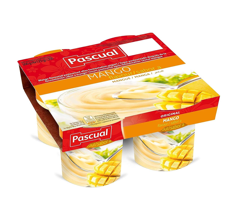 Pascual Yogur Sabor Mango - Paquete de 4 x 125 gr - Total: 500 gr ...