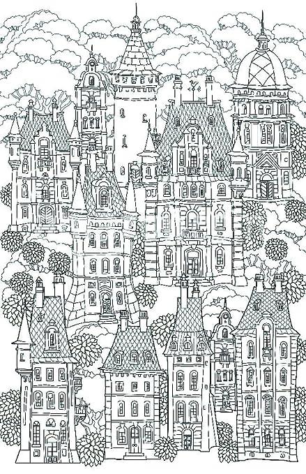 Paisaje de fantasía. Cuento de hadas castillo, Old Town Medieval ...