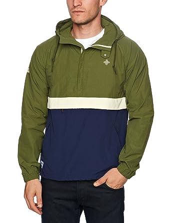 fed41e2fc Addict Eavis Men's Smock Jacket Leaf/Navy Small: Amazon.co.uk: Clothing