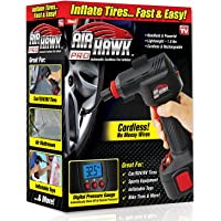 As Seen On TV 4545748787878 ONTEL Air Hawk Pro Automatic Cordless Tire Inflator Portable Air Compressor, Easy to Read Digital Pressure Gauge, Built in LED Light