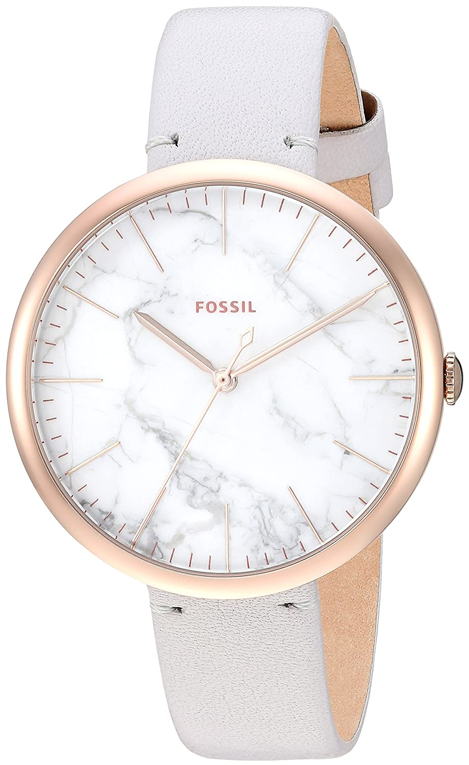 Amazon.com: Fossil Women's Annette Quartz Stainless Steel and Leather  Casual Watch Color: Gold Grey (Model: ES4379): Watches
