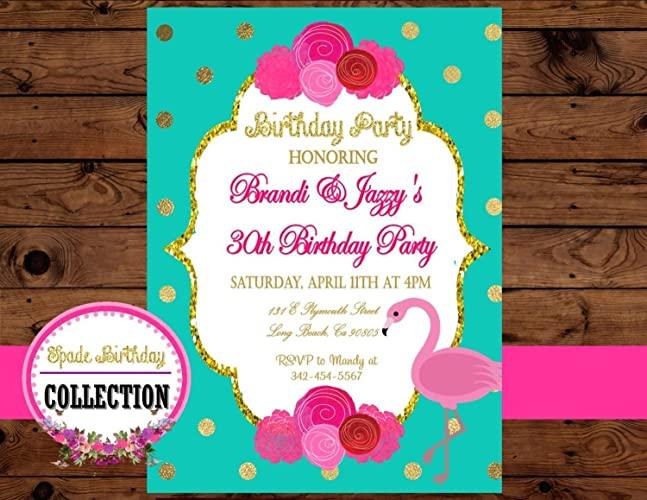 FLAMINGO Birthday Party Flamingo INVITE
