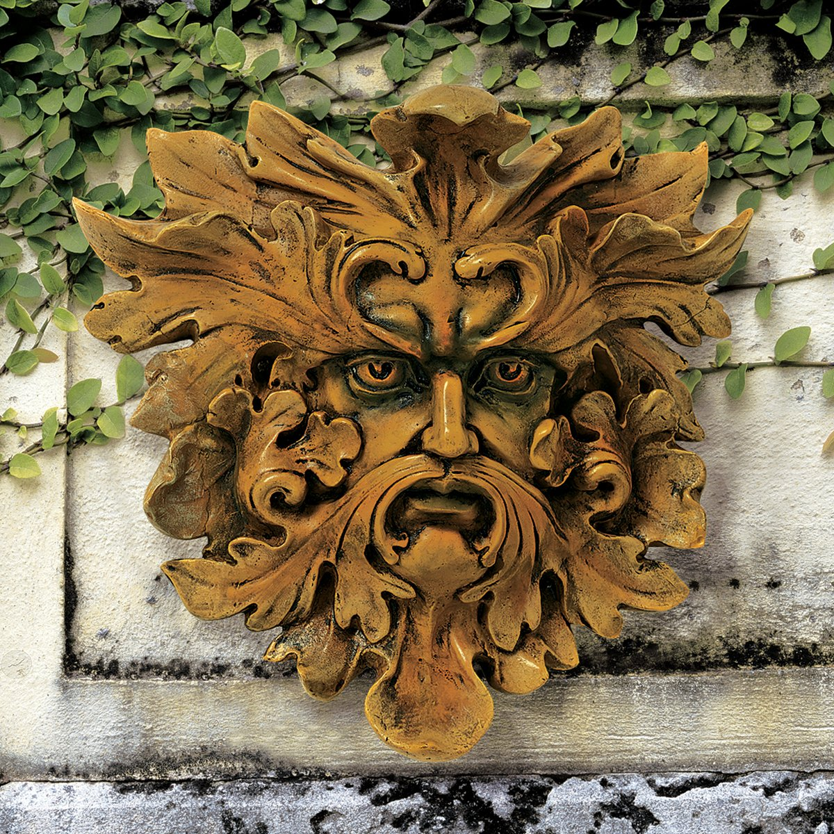 Design Toscano Oak King Greenman Wall Sculpture - Set of 2 QL957154