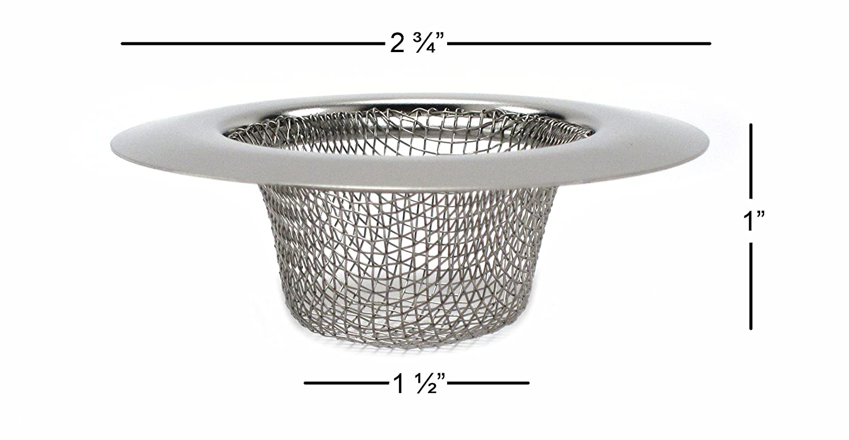 Elitexion 4pcs Bathroom Bathtub Sink Mesh Strainer Stainless Steel ...