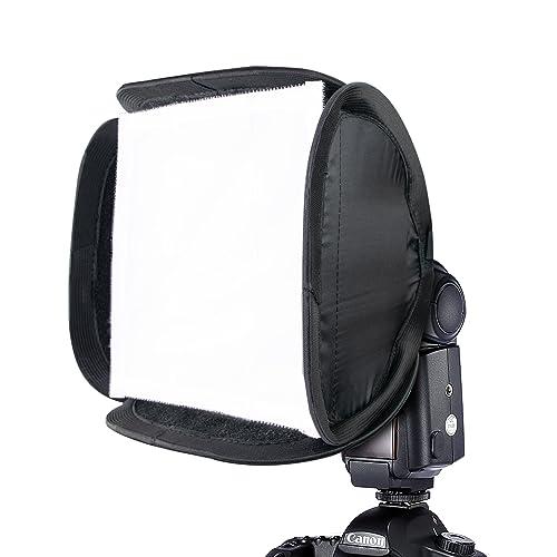 "Phot-R 9"" 23cm Flash Softbox Diffuser, Universal Portable Flash Modifier Collapsible DSLR Camera Flashgun Speedlite for Canon 430EX 580EX II 600EX-RT Nikon SB-900 SB-910 Sony Yongnuo YN560 III IV Neewer TT560 TT520 TT660 K&F Concept Flashguns"