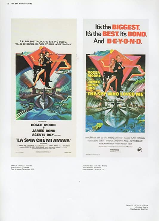 "2002 Vintage JAMES BOND 007 /""THE SPY WHO LOVED ME/"" BRITISH MINI POSTER ART Litho"