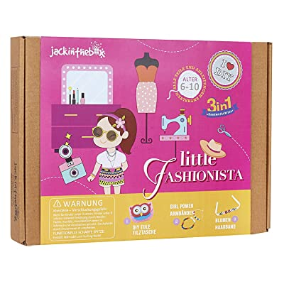 Fashion Themed Art and Craft Kit for Girls | 3 Craft Projects in 1 Box | Best Girl Gift for Ages 4 5 6 7 8 Years | Includes Beautiful Felt and Foam Embellishments (Little Fashionista 3-in-1): Toys & Games