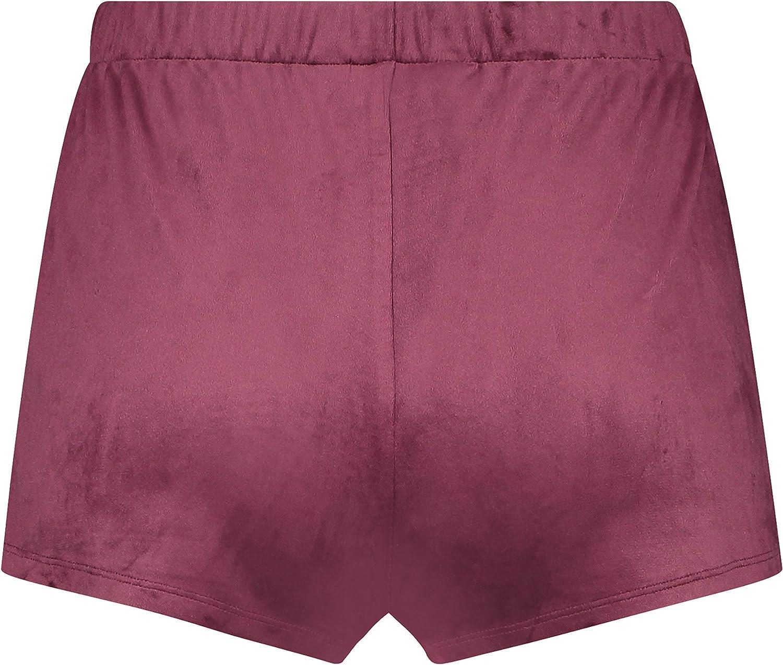 HUNKEM/ÖLLER Damen Samt-Shorts mit elastischer Taille