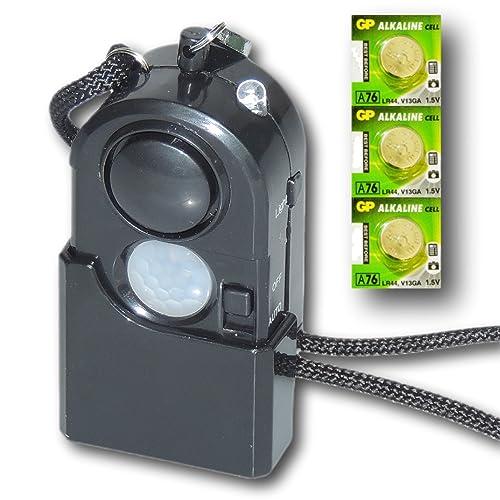Minder Travel Guard Portable PIR Motion Sensor Detector Personal Panic Rape  Attack Security Burglar Alarm
