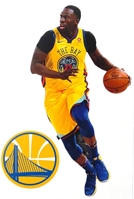 152d27aa01ac Image Unavailable. Image not available for. Color  FATHEAD Draymond Green  Mini Golden State Warriors Logo Official NBA Vinyl Wall Graphics 7 quot   INCH