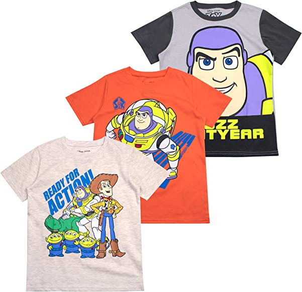 c07e73f50667d7 Amazon.com: Toy Story Boys' T-Shirt (Pack of 3) 2T Beige: Clothing