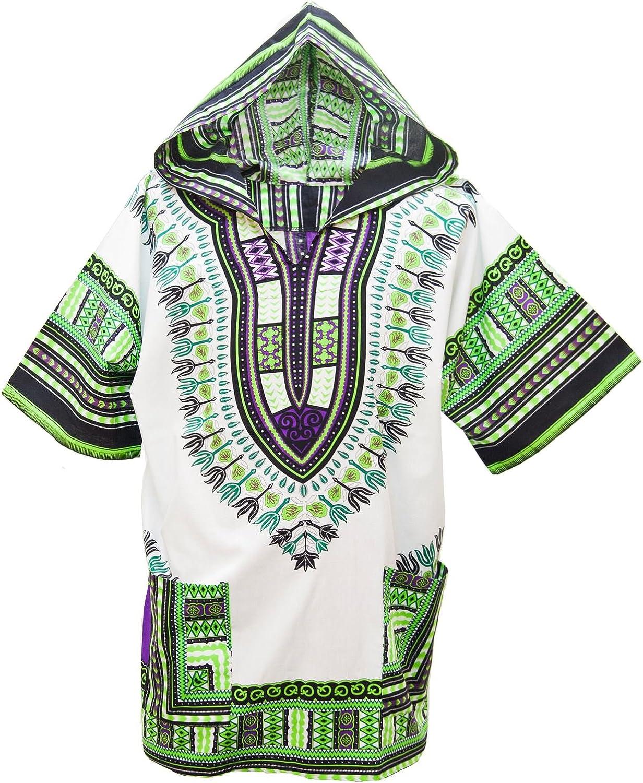 Lofbaz Unisex Dashiki Tradicional de África Camisa Hippy