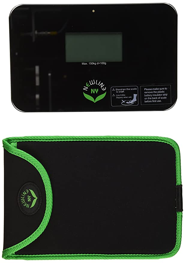 NewlineNY Auto Step On Super Mini Smallest Travel Bathroom Scale with Sleeve Strawberry Ice SBB0638SM+S001-MG