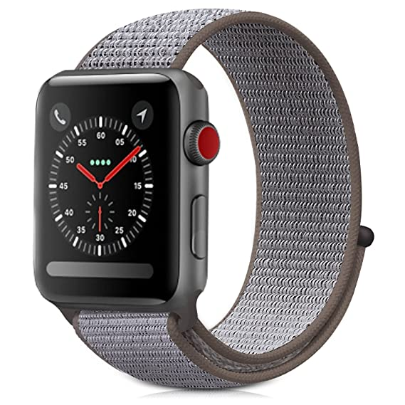 hot sale online 649c5 1e17b Compatible with Apple Watch Sport Loop Band 42mm/44mm, Lightweight  Breathable Nylon Replacement Band for iwatch Watch Nike+, Series 4/3/21  Sport, ...