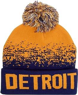 4850501c6c5 Amazon.com  US Cities Detroit Michigan Cuff Knit Pom Pom Beanie ...