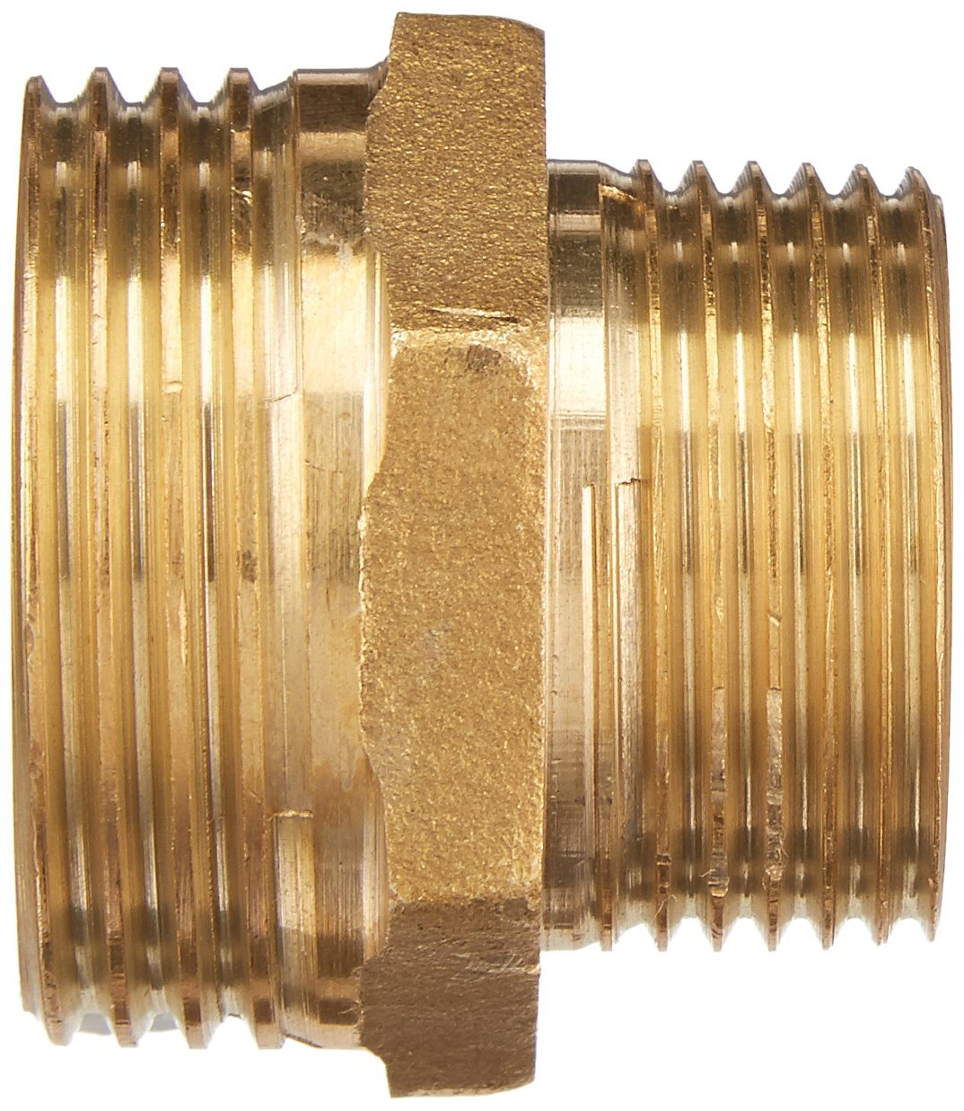uxcell Brass Pipe Reducing Hex Nipple Fitting 1//4 G Male x 3//8 G Male Connector Gold Tone