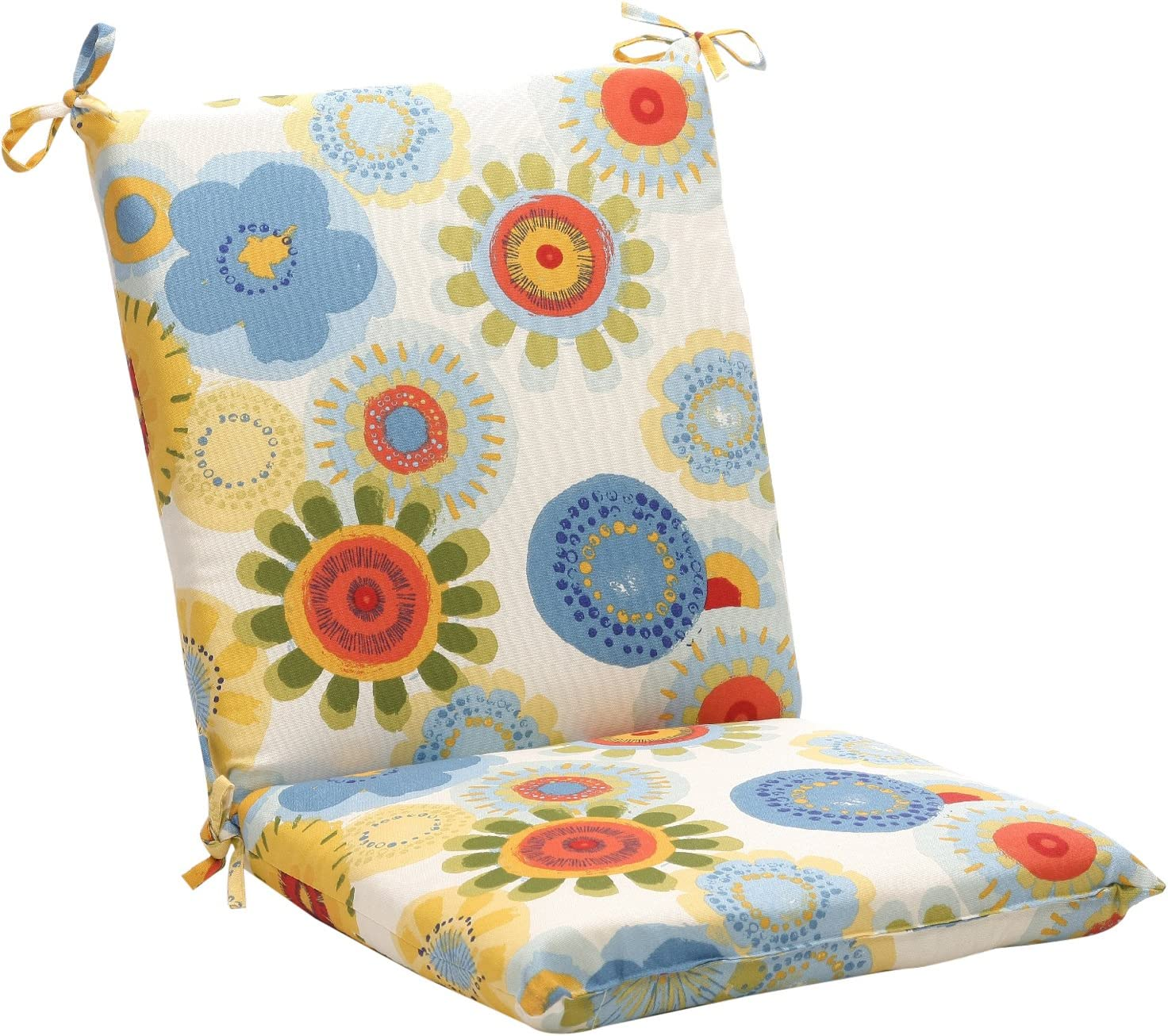 Pillow Perfect Indoor Outdoor Multicolored Floral Square Chair Cushion