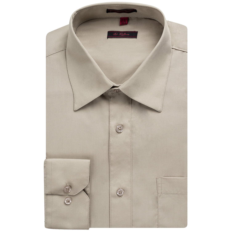53d38816c13b6 Art Hoffman Men's Regular Fit Long Sleeve Solid Dress Shirt- Many Colors