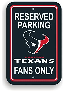 Fremont Die NFL Houston Texans Plastic Parking Sign