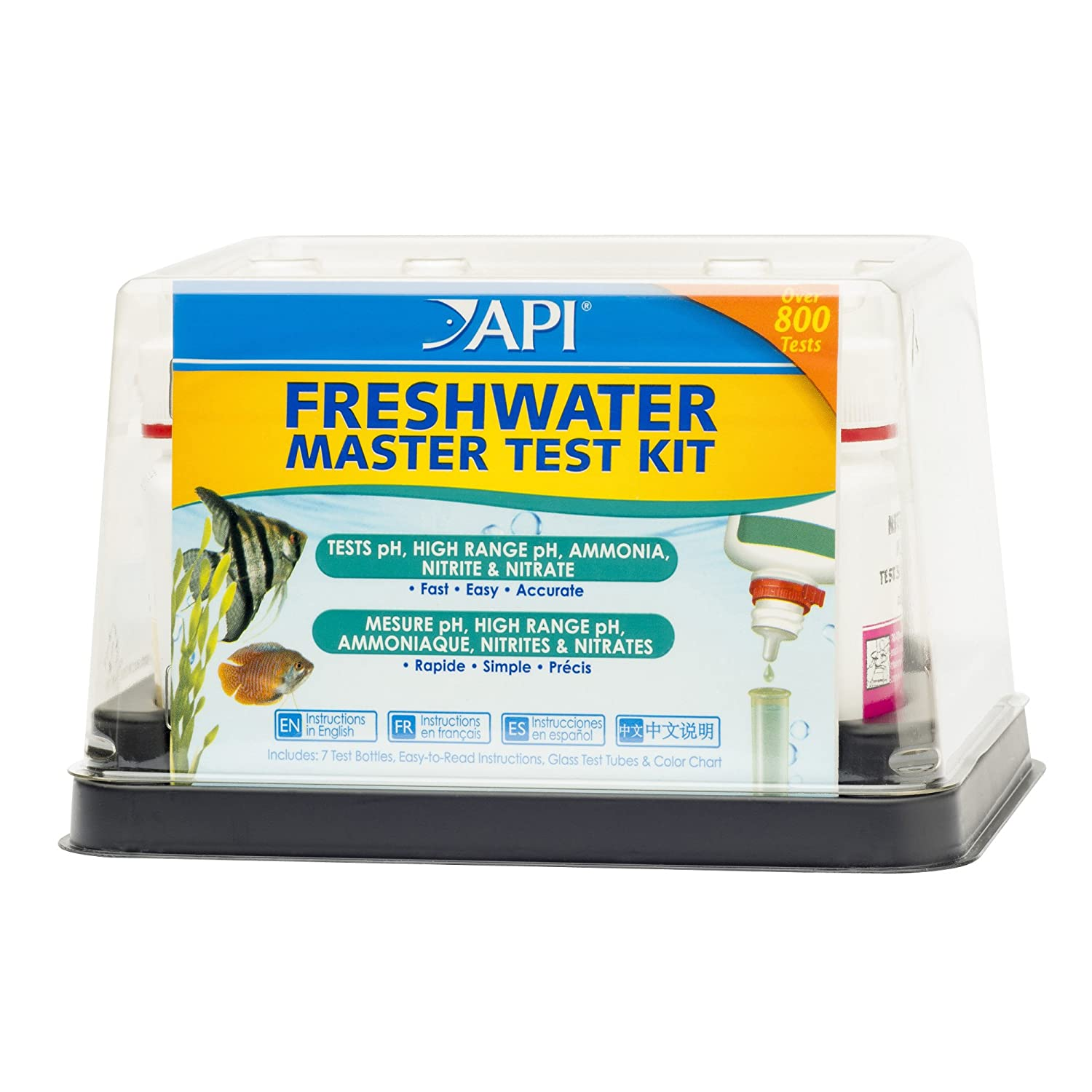 Freshwater test kit master ph ammonia nitrite nitrate for Nitrite in fish tank