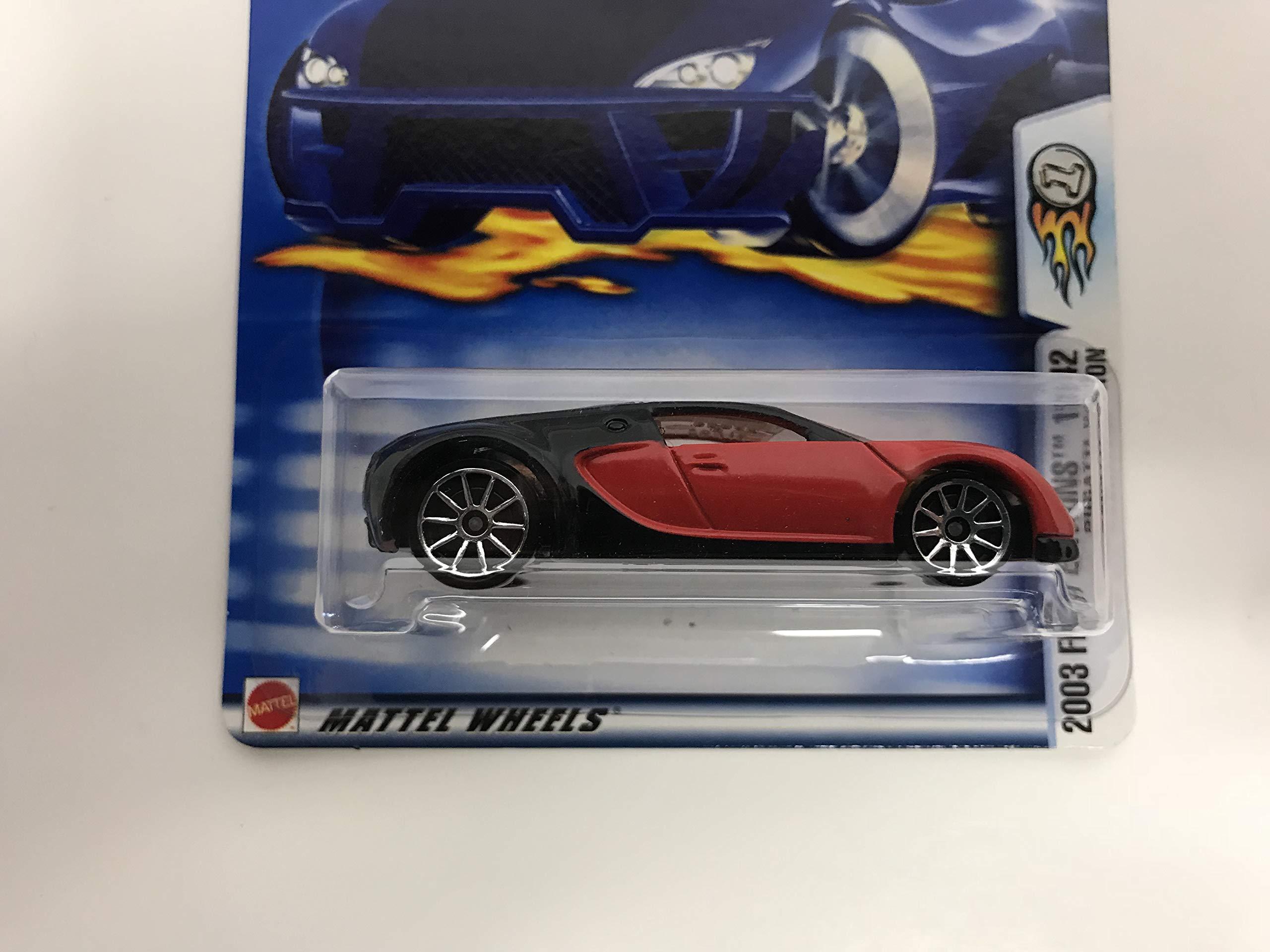 BUGATTI VEYRON Hot Wheels 2003 First Edition 18/42 Red/Black No. 30