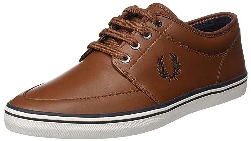 Fred Perry Kingston Leather, Zapatos de Cordones Oxford para Hombre, Marrón (Tan Dark Chocolate), 39 EU