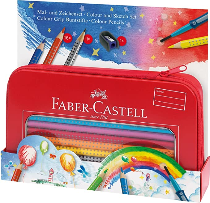 Amazon.com : Faber-Castell Colour Grip Colouring and Drawing ...
