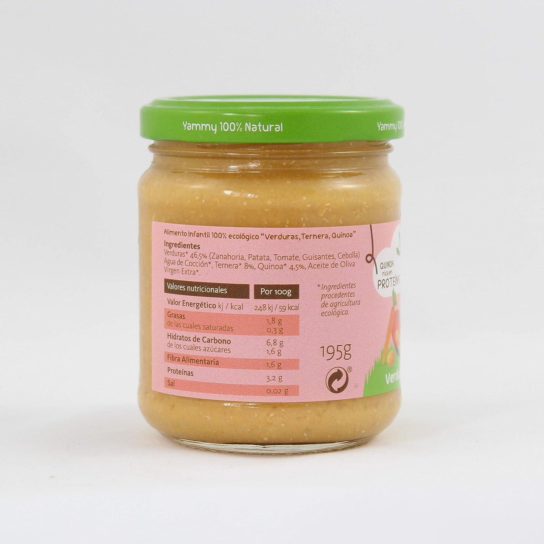 Yammy, Potito Ecológico de Ternera (Verduras, Ternera, Quinoa) - 12 de 195 gr. (Total 2340 gr.): Amazon.es: Alimentación y bebidas